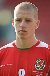WREXHAM, WALES - Saturday, October 10, 2009: Wales' Nathan Craig before the UEFA Under-21 Championship Qualifying Round Group 3 match against Bosnia-Herzegovina at the Racecourse Ground. (Pic by Chris Brunskill/Propaganda)