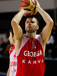Manuchar Markoishvili during practice session of Georgia's National basketball team 1 day before Eurobasket Lithuania 2011, on August 29, 2011, in Arena Svyturio, Klaipeda, Lithuania. (Photo by Vid Ponikvar / Sportida)