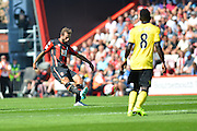 AFC Bournemouth's Steve Cook during the Barclays Premier League match between Bournemouth and Aston Villa at the Goldsands Stadium, Bournemouth, England on 8 August 2015. Photo by Mark Davies.