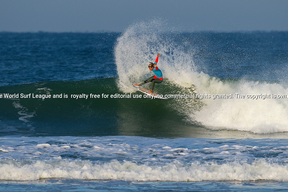 Sage Erickson of the USA (pictured) advancing out of Round 2 of the Roxy Pro France.