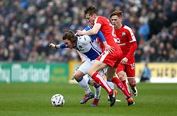 Luke James of Bristol Rovers goes past Tom Anderson of Chesterfield - Mandatory by-line: Robbie Stephenson/JMP - 18/03/2017 - FOOTBALL - Memorial Stadium - Bristol, England - Bristol Rovers v Chesterfield - Sky Bet League One