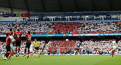 England's Harry Kane takes a free kick - Mandatory byline: Matt McNulty/JMP - 07966386802 - 22/05/2016 - FOOTBALL - Etihad Stadium -Manchester,England - England v Turkey - International Friendly