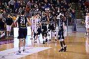 esultanza Angelico Biella<br /> Unicusano Roma - Angelico Biella<br /> Campionato Basket LNP 2016/2017<br /> Roma 29/01/2017<br /> Foto Ciamillo-Castoria