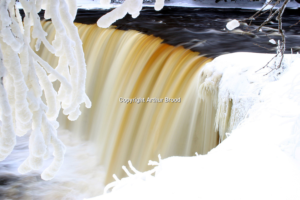 Tahquamenon Falls after a December snowstorm.