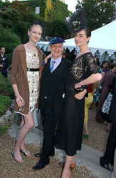 Left to right, JADE PARFITT, STEPHEN JONES and ERIN O'CONNOR at a party to celebrate Stephen Jones's 25 Years of Millinery held at Debenham House, 8 Addison Road, London W14 on 13th July 2006.<br />