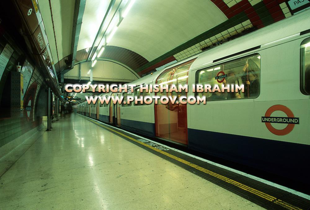 Subway train station, London, England