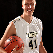 Center Tom Herzog of the University of Central Florida Knights mens basketball team poses on media day at the UCF Arena on October 14, 2010 in Orlando, Florida. (AP Photo/Alex Menendez)