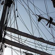 Le Belem en escale à Bayonne. Sailship BELEM at Bayonne.