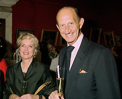 MR & MRS DAVID METCALFE, his father was equerry to the late King Edward VIII, at a reception in London on 22nd May 1997.LYM 31 2ORO