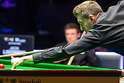 Mark Selby gets an opportunity to get back in the first frame of the evening session at the World Snooker 19.com Scottish Open Final Mark Selby vs Jack Lisowski at the Emirates Arena, Glasgow, Scotland on 15 December 2019.