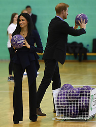 Prince Harry, The Duke of Sussex, and Meghan Markle, The Duchess of Sussex, attend the Coach Core Awards at Loughborough University, Loughborough, Leicestershire, UK, on the 24th September 2018. Picture by Eddie Mulholland/WPA-Pool. 24 Sep 2018 Pictured: Meghan Markle, Duchess of Sussex, Prince Harry, Duke of Sussex. Photo credit: MEGA TheMegaAgency.com +1 888 505 6342