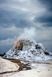 White Dome Geyser, Yellowstone National Park, Wyoming