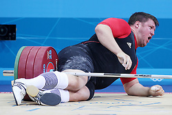 Olympic Games London 2012 - Olympische Spiele London 2012, Great Britain - Grossbritanien, weight lifting - Gewichtheben, men + 105kg - Maenner ueber 105kg, Matthias Steiner / GER.© pixathlon