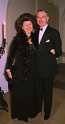 The HON.DAVID & MRS SIEFF  members of the Marks & Spencer stores family, at a dinner in London on 30th November 1998.MMK 3