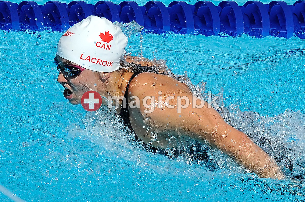Audrey LACROIX of Canada competes in the women's 200m butterfly heats at the 13th FINA World Championships at the Foro Italico complex in Rome, Italy, Wednesday, July 29, 2009. (Photo by Patrick B. Kraemer / MAGICPBK)