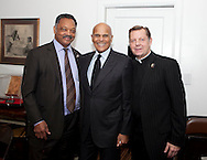 Rev. Jesse Jackson Harry Belafonte and Rev. Michael Pfleger pose for a photo at St. Sabina's Church.