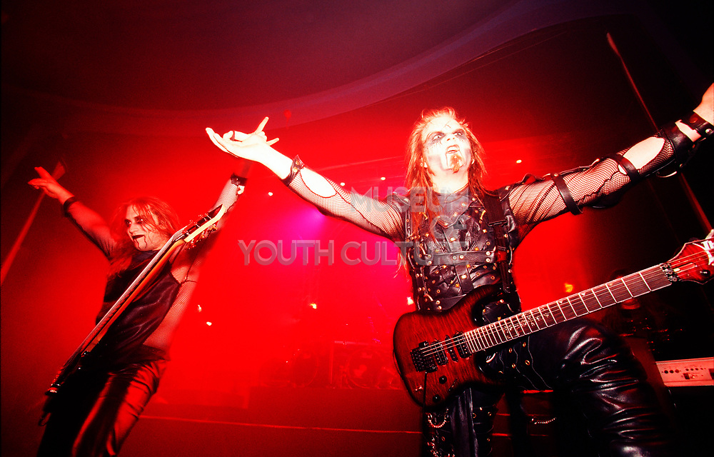 """""""Cradle Of Filth"""" performing on stage"""