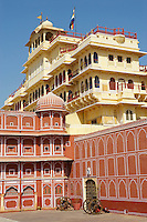 Inde, Rajasthan, Jaipur la ville rose, le City Palace. // India, rajasthan, Jaipur the Pink City, the City Palace.