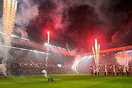 EINDHOVEN, PSV - Excelsior, voetbal, Eredivisie seizoen 2015-2016, 17-10-2015, Philips Stadion, de nieuwe LED verlichting wordt feestelijk in gebruik genomen.