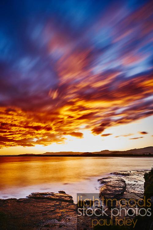 Sunset over Gerroa, South Coast, NSW, Australia.