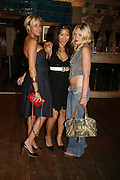 Katie Street, Nina Tsang and Laura Deeley.  Quintessentially Summer party, Debenham House. Addison Rd. London. 15 June 2006. ONE TIME USE ONLY - DO NOT ARCHIVE  © Copyright Photograph by Dafydd Jones 66 Stockwell Park Rd. London SW9 0DA Tel 020 7733 0108 www.dafjones.com