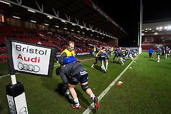 Bristol Rugby replacement Will Homer warms up - Mandatory byline: Rogan Thomson/JMP - 22/01/2016 - RUGBY UNION - Ashton Gate Stadium - Bristol, England - Bristol Rugby v Ulster A - British & Irish Cup.