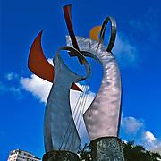 Modern sculpture.Santurce, Puerto Rico