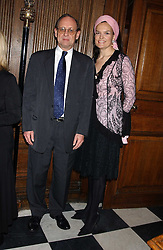 PROF.PETER RIGBY chief executive of the Institute of Cancer Research and EMMA KITCHENER-FELLOWES at Carols from Chelsea in aid of the Institute of Cancer Research at the Royal Hospital Chapel, Chelsea, London on 1st December 2005.<br /><br />NON EXCLUSIVE - WORLD RIGHTS