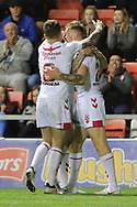 Richie Myler and Tom Johnstone of England during the International Friendly match at Leigh Sports Village, Leigh<br /> Picture by Steve McCormick/Focus Images Ltd 07545 862647<br /> 17/10/2018