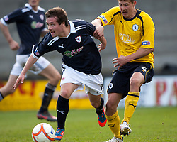 Raith Rovers Lewis Vaughan and Falkirk's Will Vaulks..Raith Rovers 0 v 0 Falkirk, 27/4/2013..© Michael Schofield.
