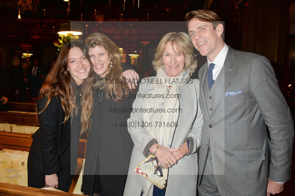 Left to right, MARY CLARE ELLIOT, ALICE IRWIN, ANNABEL ELLIOT and BEN ELLIOT at the Fortnum & Mason and Quintessentially Foundation Fayre of St.James's in association with The Crown Estate held at St.James's Church, Piccadilly followed but a reception at Fortnum & Mason, Piccadilly,London on 5th December 2013.
