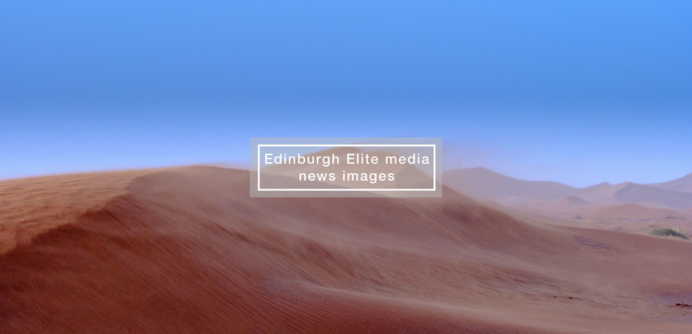 Sand blowing off the dunes in the Morroccan Sahara desert<br /> <br /> (c) Andrew Wilson | Edinburgh Elite media