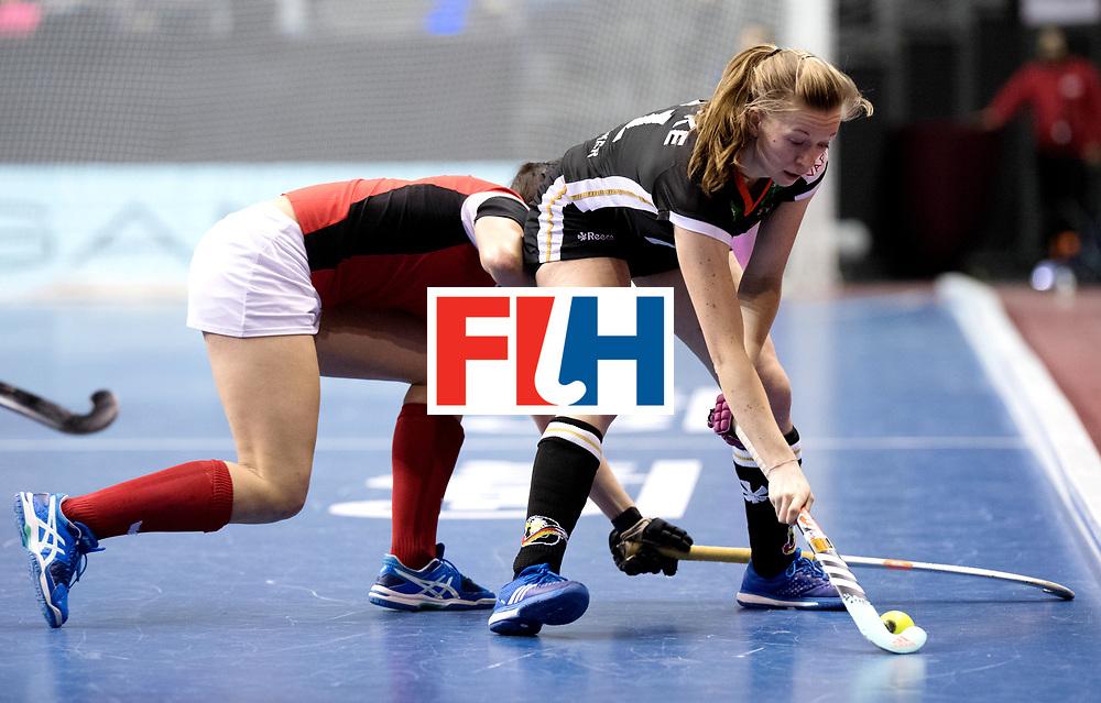 BERLIN - Indoor Hockey World Cup<br /> Quarterfinal 3: Germany - Poland<br /> foto: Franzisca Hauke.<br /> WORLDSPORTPICS COPYRIGHT FRANK UIJLENBROEK