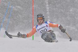 KAMPSCHREUR Jeroen LW12-2 NED at 2018 World Para Alpine Skiing World Cup slalom, Veysonnaz, Switzerland