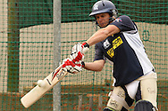 Bradley Hodge of the Victorian Bushrangers looks to attack a delivery during the Bushrangers training session held at St Georges Park in Port Elizabeth on the 17 September 2010..Photo by: Shaun Roy/SPORTZPICS/CLT20