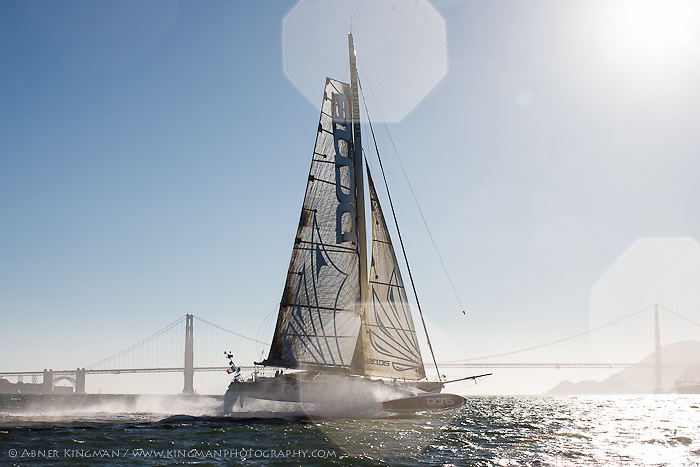 L'Hydroptère visits San Francisco Bay