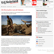 "Screengrab of ""Mali War"" published in Vrij Nederland"