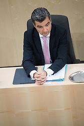 12.06.2019, Hofburg, Wien, AUT, Parlament, Nationalratssitzung, Sitzung des Nationalrates mit Vorstellung der Übergangsregierung, im Bild Innenminister Wolfgang Peschorn // Austrian Interior Minister Wolfgang Peschorn during meeting of the National Council of austria at Hofburg palace in Vienna, Austria on 2019/06/12, EXPA Pictures © 2019, PhotoCredit: EXPA/ Michael Gruber
