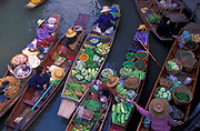 The floating market at Damnoensaduak, west of Bangkok