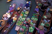 The floating market at Damnoensaduak, west of Bangkok