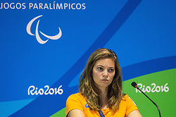 Athlete Marlou van Rhijn at press conference in the Paralympic Village 1 day ahead of the Rio 2016 Summer Paralympics Games on September 6, 2016 in Rio de Janeiro, Brazil. Photo by Vid Ponikvar / Sportida