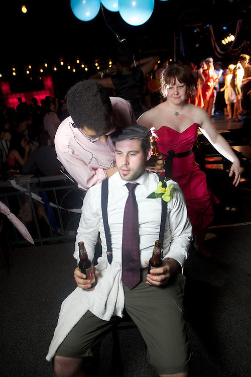 The 13th Hour, a late night talk show that runs during the Montreal Fringe Festival, mount a special Prom Night party to celebrate the festival and the art of drinking with balloons.