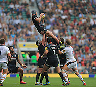 Al Hargeaves of Saracens during the Aviva Premiership match at Twickenham stadium, London<br />