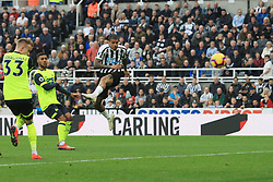 February 23, 2019 - Newcastle, England, United Kingdom - Newcastle United's Kenedy shoots during the Premier League match between Newcastle United and Huddersfield Town at St. James's Park, Newcastle on Saturday 23rd February 2019. (Credit Image: © Mi News/NurPhoto via ZUMA Press)