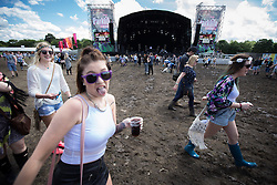 © Licensed to London News Pictures . 08/06/2014 . Heaton Park , Manchester , UK . Festival goers enjoy the sunshine at The Parklife music festival in Heaton Park Manchester as the warm weather returns . Photo credit : Joel Goodman/LNP