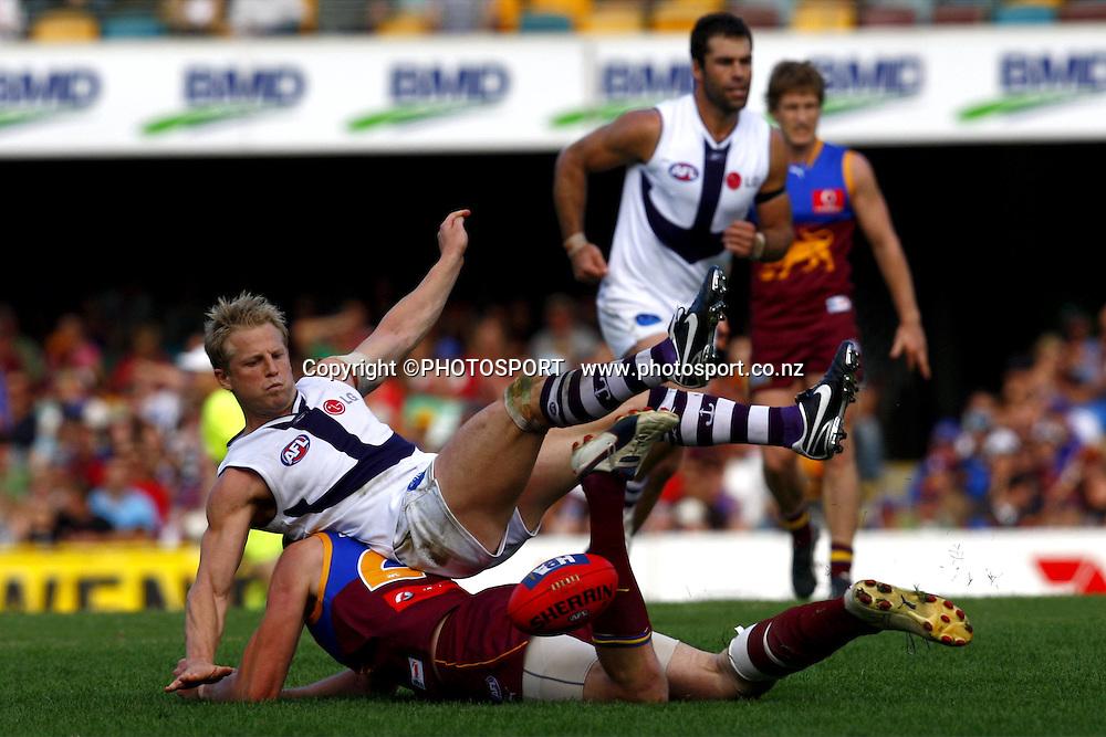 AFL, Brisbane Lions v Geelong, May 3 2008. Photo: PHOTOSPORT