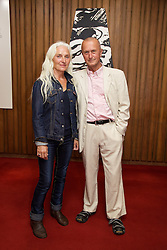 19/08/2015<br /> Pictured at the opening night of 'The Bog of Cats' by Marina Carr at The Abbey Theatre were Olwen Fouéré and David Heap.