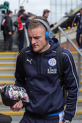 Leicester City forward Jamie Vardy (9) arrives before the Barclays Premier League match between Crystal Palace and Leicester City at Selhurst Park, London, England on 19 March 2016. Photo by Phil Duncan.