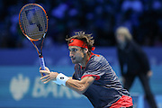 David Ferrer during the ATP World Tour Finals at the O2 Arena, London, United Kingdom on 20 November 2015. Photo by Phil Duncan.