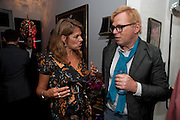 TRACEY EMIN; DAVID COLLINS, Party at the home of Amanda Eliasch in Chelsea after the opening of As I Like it. A memory by Amanda Eliasch and Lyall Watson. Chelsea Theatre. Worl's End. London. 4 July 2010<br /> <br />  , -DO NOT ARCHIVE-© Copyright Photograph by Dafydd Jones. 248 Clapham Rd. London SW9 0PZ. Tel 0207 820 0771. www.dafjones.com.